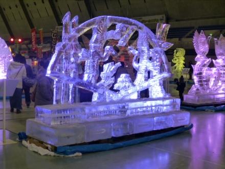 第19回氷の彫刻展 in エムウェーブ
